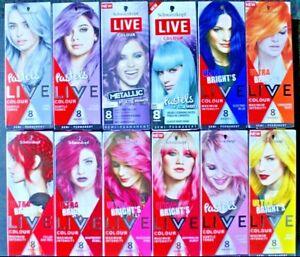 Schwarzkopf Live Colour ULTRA BRIGHTS Pastel Metallic Semi-permanent Hair Dye