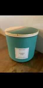 Sunny Lime Bath And Body Works White Barn Candle Ceramic Lid RARE!! NWT