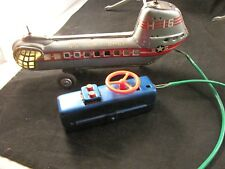 NOMURA US AIR FORCE H 16 BATTERY OPERATED HELICOPTER TOY MISSING PROPELLERS