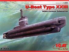 U-boot Tipo XXIII (Kriegsmarine, Bundesmarine & Soviética Navy mkgs) 1/144 Icm