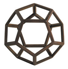 "Dodecahedron 3D Geometric Ether Wooden Model 9"" Polyhedron Office Home Accent"