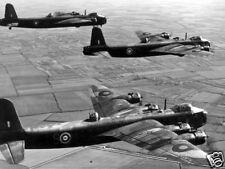 B&W WWII Photo British Short Stirling Bombers RAF  WW2 World War Two England