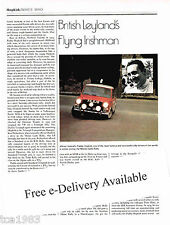 Old British Rally Driver PADDY HOPKIRK Article / Picture / Photo