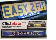 Clip2plate Scotland Car Number Plate Badge