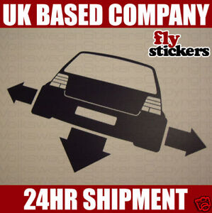 NEW* Down and Out Sticker, Volkswagen Mk4 Golf GTI 20vt
