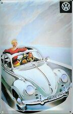 Vw Volkswagen ficha letrero de metal 3D en relieve cartel lata 20 X 30 cm