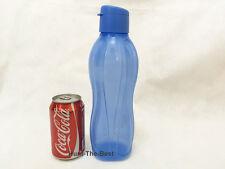 Neu TUPPERWARE Eco Easy Ecoeasy Trinkflasche Flasche 1L Flip oben Kappe Blau