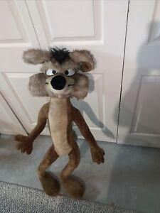 wile e coyote 1971 vintage warner bros mighty stars stuffed animal plush LARGE