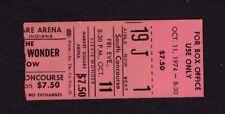 1974 Stevie Wonder concert ticket stub Indianapolis Fulfillingness Booggie On