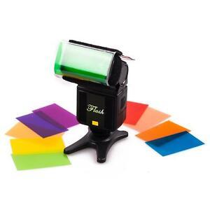 Coloured Light Filters x12 Gels Holder Flash Speedlite Lighting Studio Kit UK