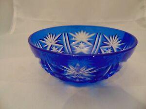 Luminarc France CRIS D'ARQUES/DURAND Dessert Bowls Cobalt Blue Cut Glass