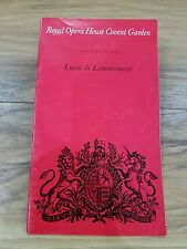 """Lucia di Lammermoor"" Programme Royal Opera House Covent Garden - 28th May 1973"