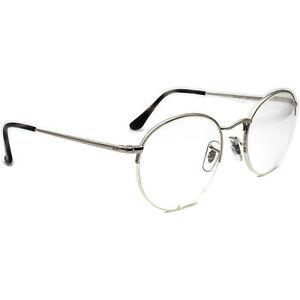 Ray-Ban Eyeglasses RB 3947V 2501 Silver Half Rim Round Metal Frame 51[]22 145
