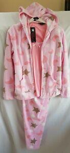 Selena Secrets 3 Piece Pyjama PJS Set Size 10/12, 14/16 or 18/20 Pink Multi