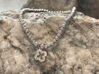 NEW Welsh Clogau Silver & Rose Gold Tudor Court Bead Bracelet £20 OFF! 17.5cm