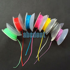 Dental Long size Elastic Ultra Power Chain for braces Orthodontic 7spools&colors