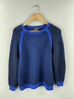 Cut25 by Yigal Azrouel Vintage Women's Chunky Knit Jumper - Size S - Blue/Black