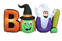 8 Foot Long Halloween Inflatable Witch Ghost BOO Outdoor Party Yard Decoration