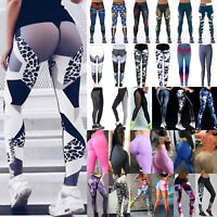 Womens Sports Yoga Leggings Workouts Gym Fitness Pants Athletic Running Trousers