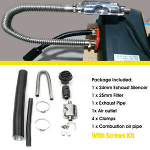Air Diesel Heater 24mm Exhaust Silencer 25mm Filter Intake Pipe 60mm Outlet