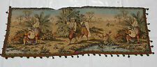 Vintage French Beautiful Hunting Scene Tapestry 138x48cm (T670)