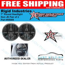 "Rigid Industries 55009 7"" Round Headlight Non Jk Pair of 2"