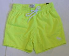 NWT A&F ABERCROMBIE & FITCH MEN'S CAMPUS FIT SWIM SHORTS BRIGHT YELLOW #XS