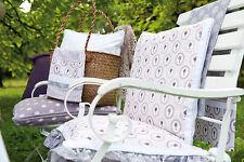 Clayre & Eef Chair Cushion Lilac Grey Lavender 40x40cm Cottage Seat