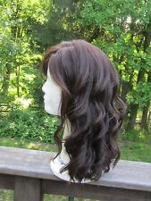Pony Tail 100% Human Hair Medium Brown Long Wig Size L
