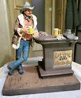Cowboy At The Bar Sculpture Signed Michael Garman 1976