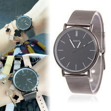 Ladies Fashion Black Tone Case Quartz Black Faced Black Mesh Band Wrist Watch.