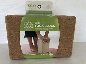 Gaiam Cork Yoga Brick Block NEW
