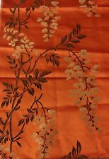 French Antique (c1870) Silk Woven Brocade Textile Fabric~Wisteria~Chinoiser ie