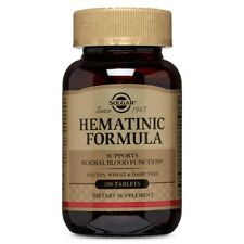 Solgar Hematinic Formula - 100 Tablets FRESH, FREE SHIPPING, MADE IN USA
