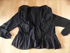 HEBBEDING belle boléro tricot veste avec volants noir taille 3 w. Neuf hmi416