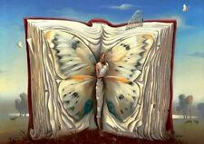 Encadré Print - Vladimir Kush papillon mère dans un livre (peinture photo Poster