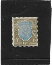 INDIA 1928 KING GEORGE V 15 RUPEE BLUE and OLIVE SG.218 LIGHTLY MOUNTED MINT MLH