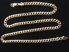"""Medium Curb  Link Chain  24"""" in 24 Kt Gold Overlay"""