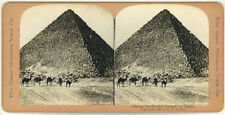 Photo Stéréo Citrate Pyramide Egypte Vers 1890