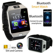Schwarz DZ09 Bluetooth Smart Watch Wireless für Android SIM Kamera Armband Uhr