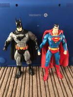 DC Direct Public Enemies Batman And Mattel Superman 6 Inch Figure Lot