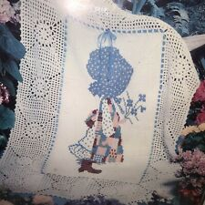 """New listing Vtg Holly Hobbie Afghan to Crochet Embroider Kit Paragon 0653 36""""x54"""" Nos New"""