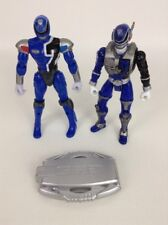 "Power Rangers S.P.D. Blue Ranger 6"" Action Figures Badge 2pc Lot Bandai 2004"
