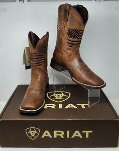 ARIAT Circuit Patriot Mens USA Sz 12 Weathered Tan 10029699 Western Cowboy Boots