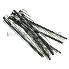 10 pcs 1x40 Pin 2.54mm Right Angle Single Row Male Pin Header Connector