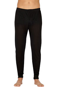 Intimo Mens Classic Silk Knit Long John Pant Underwear
