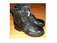 NEW Black RALPH LAUREN POLO ANDRES III Leather Boots Sz 8.5D  ~~~FREESHIPPING~~~