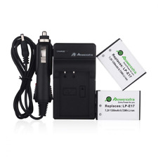 Powerextra 2 Pack Replacement Canon Lp-E17 Battery With Charger Fully Decoded Fo
