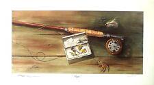 "Ed King, ""Magic"" Trout fly rod with tied flies  LTD ED  S/N(132/525)  art print"