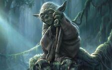 """Yoda Master Jedi Star Wars Fabric Poster 40"""" x 24""""  Decor 02"""